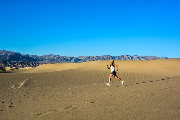 Running in Death Valley National Park, California, USA